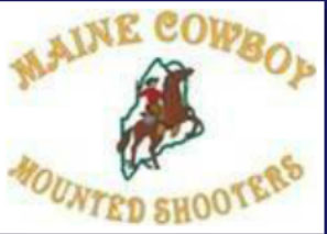 Maine Cowboy Mounted Shooters logo and link
